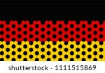 german flag with football... | Shutterstock .eps vector #1111515869