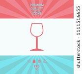wineglass symbol icon | Shutterstock .eps vector #1111516655