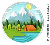 summer camping background in...   Shutterstock .eps vector #1111526627