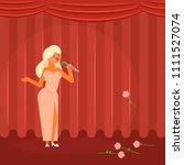 vector illustration of theater... | Shutterstock .eps vector #1111527074