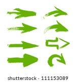 green vector hand painted brush ... | Shutterstock .eps vector #111153089