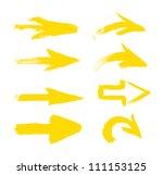 yellow vector hand painted... | Shutterstock .eps vector #111153125