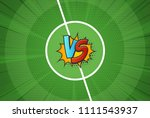 vector texture of the football... | Shutterstock .eps vector #1111543937