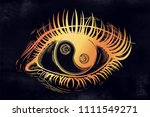 beautiful realistic eye of a... | Shutterstock .eps vector #1111549271