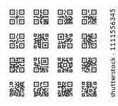 qr code icon set | Shutterstock .eps vector #1111556345