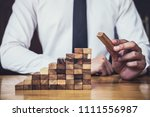 risk to make business growth... | Shutterstock . vector #1111556987