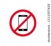 no phone sign vector flat icon. ... | Shutterstock .eps vector #1111557635