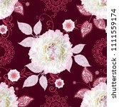seamless pattern. decorative... | Shutterstock . vector #1111559174