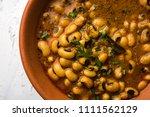 black eyed kidney beans curry... | Shutterstock . vector #1111562129