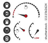 fuel gauge and petrol pump... | Shutterstock .eps vector #1111562624