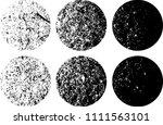set of grunge textures in black ... | Shutterstock .eps vector #1111563101