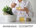 doctor woman scientist making... | Shutterstock . vector #1111569707