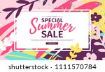 template design web  summer... | Shutterstock .eps vector #1111570784