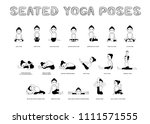 yoga seated poses vector... | Shutterstock .eps vector #1111571555