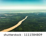 landscape aerial view of... | Shutterstock . vector #1111584809