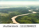 landscape aerial view of... | Shutterstock . vector #1111584815