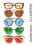 sunglasses. set. isolated... | Shutterstock .eps vector #1111585934