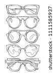 sunglasses. set. isolated... | Shutterstock .eps vector #1111585937