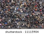 crowd of people from above | Shutterstock . vector #11115904