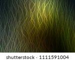 dark green vector pattern with... | Shutterstock .eps vector #1111591004