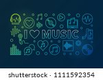 i love music vector colored... | Shutterstock .eps vector #1111592354