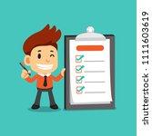 vector cartoon businessman... | Shutterstock .eps vector #1111603619