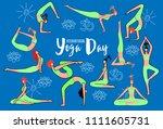 international day of yoga.... | Shutterstock .eps vector #1111605731
