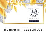 vector autumn sale banner with... | Shutterstock .eps vector #1111606001