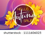 vector autumn sale banner with... | Shutterstock .eps vector #1111606025