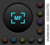 camera manal focus mode dark... | Shutterstock .eps vector #1111611731
