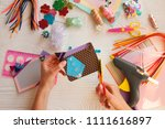 colorful pink background with... | Shutterstock . vector #1111616897