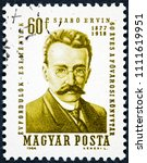 hungary   circa 1964  a stamp... | Shutterstock . vector #1111619951