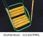 old children swing seat on the... | Shutterstock . vector #1111619981