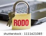 rodo personal data protection... | Shutterstock . vector #1111621085