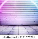 metallic interior background... | Shutterstock . vector #1111626941
