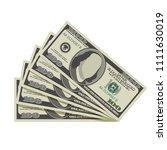 fan of one hundred dollar...   Shutterstock .eps vector #1111630019
