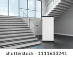 modern school corridor interior ... | Shutterstock . vector #1111633241