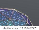 abstract 3d rendering of... | Shutterstock . vector #1111640777