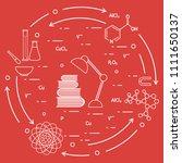 scientific  education elements. ... | Shutterstock .eps vector #1111650137