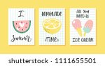 vector set of bright summer... | Shutterstock .eps vector #1111655501