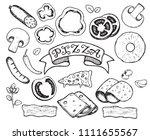 vector hand drawn ingredients... | Shutterstock .eps vector #1111655567