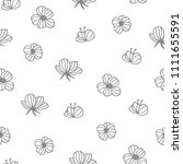 seamless hand drawn pattern.... | Shutterstock .eps vector #1111655591