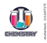 chemical logo for science or... | Shutterstock .eps vector #1111657175