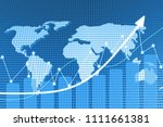 chart volume and blue theme... | Shutterstock . vector #1111661381
