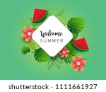 summer vector banner design... | Shutterstock .eps vector #1111661927