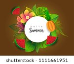 summer vector banner design... | Shutterstock .eps vector #1111661951