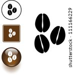 Coffee Beans Symbol Sign And...