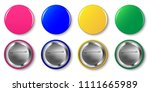 pin button vector set. pink ... | Shutterstock .eps vector #1111665989