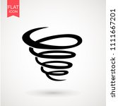 tornado icon. tornado storm...   Shutterstock .eps vector #1111667201