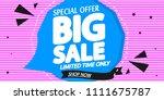big sale  poster design...   Shutterstock .eps vector #1111675787